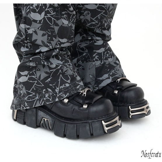 topánky NEW ROCK - String Shoes (106-S1) Black