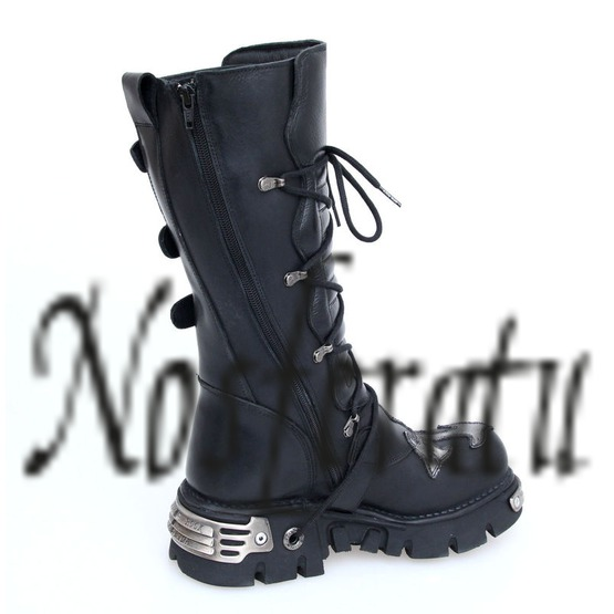Topánky New rock - Cross Boots (403-S1) Black