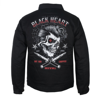 bunda pánska BLACK HEART - DENY BOY - BLACK - 006-0021-BLK
