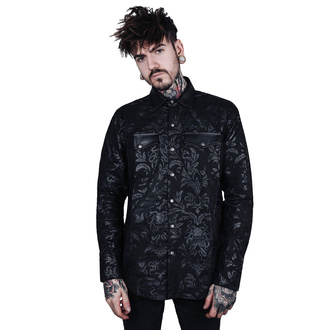košele pánska KILLSTAR - Dark Ocean Button - BLACK - KSRA001873