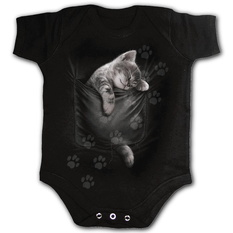 body detské SPIRAL - POCKET KITTEN - Black, SPIRAL