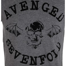 tričko pánske Avenged Sevenfold - Classic Deathbat Acid Wash - ROCK OFF, ROCK OFF, Avenged Sevenfold