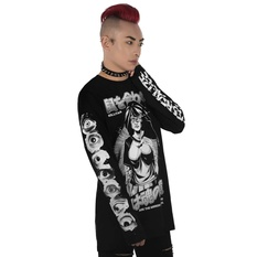 tričko unisex s dlhým rukávom KILLSTAR - Eye Contact Long Sleeve Top, KILLSTAR