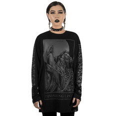 tričko unisex s dlhým rukávom KILLSTAR - Finishing Line Long Sleeve Top, KILLSTAR